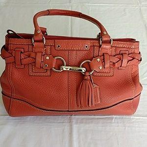 Coach Coral Hampton Leather Handbag
